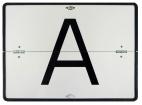 A-Warntafel, horizontal klappbar