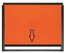 ADR-Warntafel-SET, 400x300mm, steckbar, mit Halterahmen