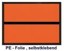 Ziffern-Warntafel, Klebefolie, Blanko, nicht refl.