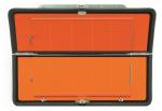 Ziffern-Klapp-Warntafel, mit Leerziffern horizontal klappbar
