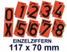 steckbare Nummernziffer für Ziffern-Warntafel