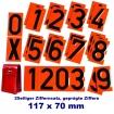Nummernziffern-Satz für Warntafel
