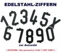Edelstahl-Nummernziffer zur Auswahl