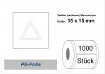 Tastbarer Gefahrenhinweis nach EN 272 eckig 15x15mm