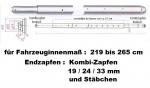 Teleskop-Sperrbalken Kombizapfen / 219-265