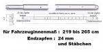 Teleskop-Sperrbalken Stäbchenzapfen / 219-265