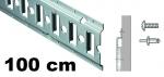 Anker-Kombi-Zurrschiene 1m, 20er-Bohrung, Stahl