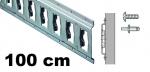 Anker-Kombi-Zurrschiene 1m, 25er-Bohrung, Stahl