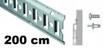 Anker-Kombi-Zurrschiene 2m, 20er-Bohrung, Stahl