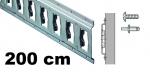 Anker-Kombi-Zurrschiene 2m, 25er-Bohrung, Stahl