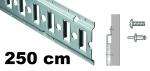 Anker-Kombi-Zurrschiene 2,5m , 20er-Bohrung, Stahl