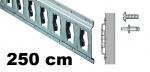 Anker-Kombi-Zurrschiene 2,5m , 25er-Bohrung, Stahl