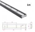 Stäbchenzurrschiene 1m,  Aluminium-Sonderlegierung für Aufbau