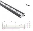 Stäbchenzurrschiene 2m,  Aluminium-Sonderlegierung für Einbau