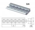 Einlass-AIRLINE-Schiene 1m,  Aluminium für Einbau