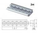 Einlass-AIRLINE-Schiene 2m,  Aluminium für Einbau