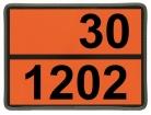 Einschub-Warntafel, Prägung 30/1202, mit Kantenschutz