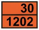 Einschub-Warntafel, Prägung 30/1202