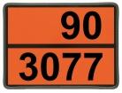 Einschub-Warntafel, Prägung 90/3077, mit Kantenschutz