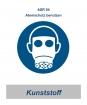"""ASR 04 Gebotsschild """"Atemschutz benutzen"""" 200mm / Kunststoff"""