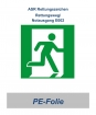 """ASR Rettungsweg-Schild, 148 x 148 mm """"rechts"""""""