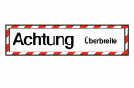 """Hinweisschild """"Achtung Überbreite"""" Klebefolie"""