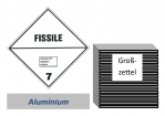 Grosszettel 250x250 Alu - Gefahrgutklasse 7E spaltbar
