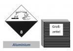 Grosszettel 250x250 Alu - Gefahrgutklasse 8