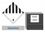Grosszettel 250x250 Alu -  Gefahrgutklasse 9