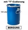 Bergungsfaß 123 Liter mit Spannring-Rillendeckel