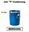 Bergungsfaß 12 Liter mit Spannring-Rillendeckel