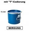 Bergungsfaß 6 Liter mit Spannring-Rillendeckel