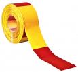 Folienabsperrband  rot/gelb