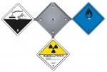 Gefahrzettel-Alu-Box 5 Zettel
