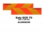 Heckmarkierungs-Satz ECE70 - Aluminium