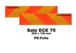 Heckmarkierungs-Satz 1130mm  ECE70 - Folie