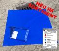 Kanalabdeckung mit Tasche 100x100 cm PVC blau