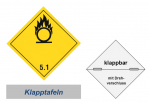 Grosszettel 250x250 horizontal klappbar, Gefahrgutklasse 5.1