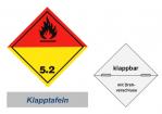 Grosszettel 250x250 horizontal klappbar, Gefahrgutklasse 5.2