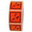 Gefahrzettel 50x50 PE-Folie - Gefahrgutklasse 1.4 S