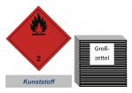 Grosszettel 250x250 Kunststoff - Gefahrgutklasse 2.1