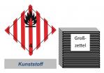 Grosszettel 250x250 Kunststoff - Gefahrgutklasse 4.1