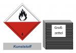 Grosszettel 250x250 Kunststoff - Gefahrgutklasse 4.2