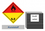 Grosszettel 300x300 Kunststoff - Gefahrgutklasse 5.2