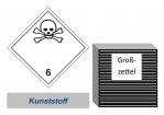 Grosszettel 300x300 Kunststoff - Gefahrgutklasse 6.1