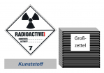 Grosszettel 300x300 Kunststoff - Gefahrgutklasse 7A