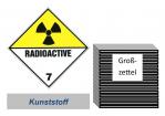 Grosszettel 250x250 Kunststoff - Gefahrgutklasse 7(D)