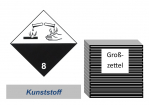 Grosszettel 300x300 Kunststoff - Gefahrgutklasse 8