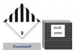 Grosszettel 300x300 Kunststoff - Gefahrgutklasse 9
