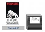"""Warnkennzeichnung Kühlmittel """"Argon"""" auf Kunststoffplatte"""